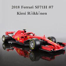 2018 Bburago 1:18 Ferrari F1 SF71H #7 Kimi Räikkönen Metal Model Racing Car Toys