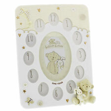 Multi Photo Frame Baby's My First Year Button Corner Engraved Boxed FOC CG1209