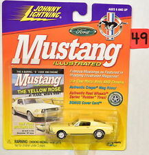 JOHNNY LIGHTNING MUSTANG ILLUSTRATED 1967 FORD MUSTANG GTA WHITE LIGHTNING