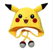 Pokemon Pikachu Hood Hat Women Kids Winter Warm Earmuff Caps