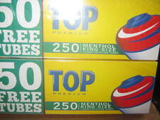 Top Menthol Filter King Cigarette Tubes 2 boxes