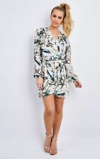 Topshop Love Botanical Print Long Sleeve Wrap Dress UK 10 12 EURO 38 40 US 6 8