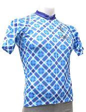 Panache 50x15 Short Sleeve Cycling Jersey Men LARGE Blue Road Mountain Bike CX
