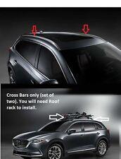2016 2017 2018 Mazda CX-9 Roof Rack Rails and Crossbars 00008LN10 00008LN11