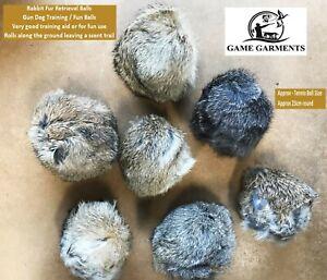 Gun Dog Retrieval Hide Rabbit Dummy Fur Balls. Training retrieval balls.