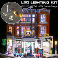 LED Light Kit ONLY For LEGO 10264 Corner Garage Vehicle Maintenance Statio