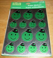 Hallmark St Patrick's Day Stickers Smiley Happy Face Leprechaun Free Ship at $15