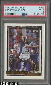 1992 Topps Gold #362 Shaquille O'Neal Magic RC Rookie HOF PSA 9 MINT