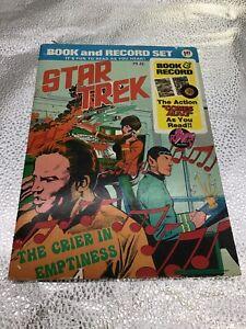 Star Trek Book & Record Set THE CRIER IN THE EMPTINESS PR-26 1975