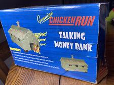Chicken Run Animated Movie Rare Farm Chicken Coop Talking Money Bank Toy Nrfb