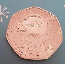 2018 CHRISTMAS SANTA & SLEIGH COMMEMORATIVE COIN 50P FIFTY PENCE COLLECTORS