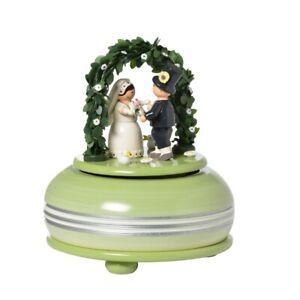 14-A13054 KWO Spieldose klein Hochzeitsfest - Verpackung beschädigt!!!