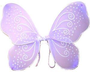 Large Lilac Glitter Fairy Wings Angel Girls Fancy Dress, Ladies Hen Do Party UK