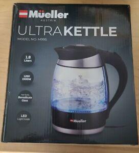 Mueller Austria Ultra Kettle M99S Water Heater SpeedBoil TechGlass 1.8L Cordless