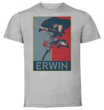 T-Shirt Gray - Propaganda Attack On Titan - Erwin Smith