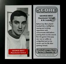 N. IRELAND - MANCHESTER UNITED - GEORGE BEST - Score UK football trade card