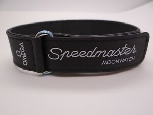 Omega Speedmaster Moonwatch 20mm Black Nylon Fabric Strap
