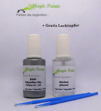 Lackstift Set BMW, Farbnummer: 144 Felgensilber Metallic + Klarlack, 2x20ml