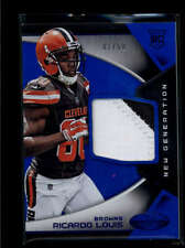 CLEVELAND BROWNS AUTO PRIME JERSEY PATCH LOT - ALL ARE SERIAL #1 GREAT GIFT WOW!