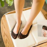 Black Lace Scalloped Socks Women Girls Boat Invisible Cotton Sole Non-slip LD