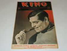 Kino 23/1935 polish magazine Clark Gable, Martha Eggerth, Jean Harlow J Crawford
