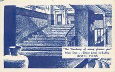 Artist Impression Hotel Olds 1930s Lansing Michigan postcard 6985