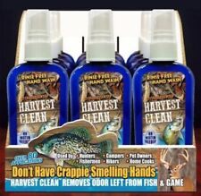 HARVEST CLEAN FISH & GAME RINSE FREE HAND WASH ODOR REMOVER DISPLAY BOX 12 COUNT