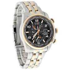 Citizen Eco-Drive 2Tone Radio Control World Time Mens Watch AT9016-56H