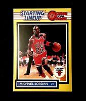 Michael Jordan Kenner Starting LineUp Very Sharp Card!!!          REPRINT 🔥