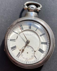 Antique Fattorini & Sons Bradford Fusee Pocket Watch KW Parts Good Balance Rare