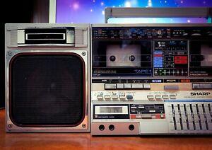 Sharp GF-800Z (1982) Vintage Stereo Cassette Boombox **RARE**
