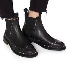 NIB $650 Rag & Bone ankle black studded bootie Benson US 9.5  EU 39.5