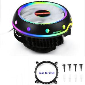 RGB  LED CPUCooler Fan Heatsink For Intel LGA 1156/1155/1151/1150 AMD AM4 / AM3+