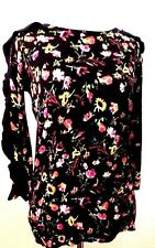 Philosophy Black Color Floral print Long Sleeve Flare Sweater Size XS