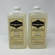 STARBUCKS Frappuccino Syrup Creme Flavored Beverage Base 2ct-63OZ Best By 7/2020