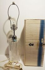 "VINTAGE WATERFORD CRYSTAL SLASH CUT ELECTRIC LAMP 21 1/4"" ~ in original box"