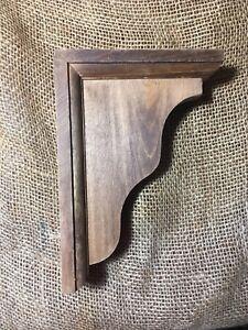 "6 Wooden Decorative Wall Shelf Stands Supports 7"" X 5"" Brackets"