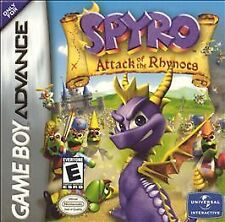 Spyro: Attack of the Rhynocs (Nintendo Game Boy Advance, 2003) GAME ONLY NES HQ