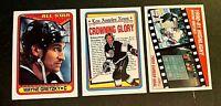 Wayne Gretzky  Hockey Card lot (9) - Kings HOF