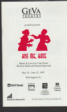 Kiss Me Kate Geva Theatre Program 1995