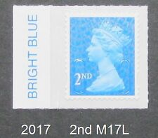 2017  M17L 2nd SECURITY MACHIN from Counter Sheets COLOUR TAB SINGLE