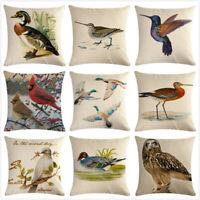 Bird Cushion Cover Decorative Cute Duck Owl Throw Pillow Case Home Sofa Decor