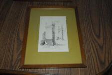 Len Guggenberger Red Wing Minnesota Listed Artist Pillar Archway Original MN ART