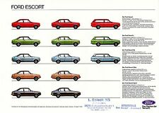 Ford Escort Prospekt 1977 16.8.77 brochure prospectus Broschüre Katalog Auto Pkw