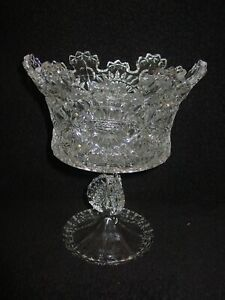 """Shannon Chrystal Royalty Pedestal Trifle or Compote Bowl 10 1/2"""""""