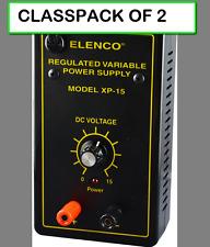 (CLASSPACK OF 2) ELENCO XP-15K VARIABLE DC POWER SUPPLY DIY KIT 0-15VDC @.3 AMP