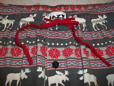 LAZY ONE MEN'S LARGE MOOSE Pajama Lounge Pants Cotton w/ Pockets Drawstring FLY