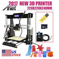 2017 Upgrade Anet A8 Reprap Prusa i3 Auto Level 3D Printer DIY 220*220*240mm US