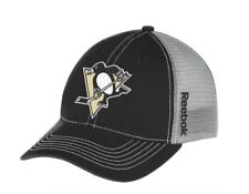 84c9f6f057e Pittsburgh Penguins Cap Reebok NHL Center Ice Slouch Mesh Hat