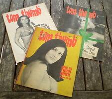 "3x VERY RARE  Vintage Australian Adult Satirical Magazines ""TOM THUMB"""